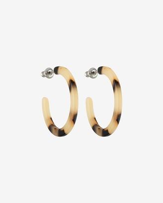 Express Machete Tortoise Mini Hoop Earrings