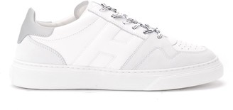 Hogan H365 Sneaker In White And Grey Leather
