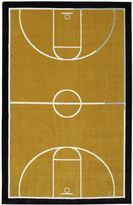 Mohawk Home Aurora Basketball Court 5-Foot x 8-Foot Area Rug in Neutral
