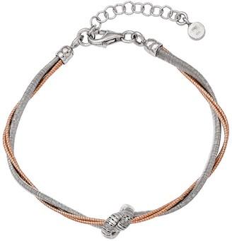 Italian Silver Knotted Bracelet, Sterling, 8.1g