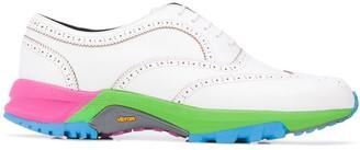 Comme des Garcons multicolour sole oxford shoes