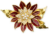 Charter Club Holiday Lane Gold-Tone Pavandeacute; and Imitation Pearl Poinsettia Brooch, Created for Macy's