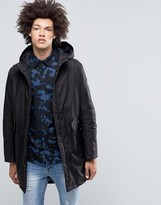 Cheap Monday Cage Hooded Parka Black