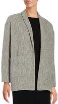 Eileen Fisher Herringbone Open-Front Jacket
