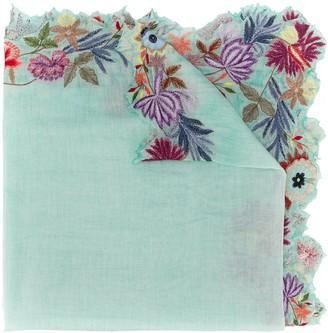 Faliero Sarti Floral-Embroidered Scarf