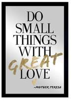 Oliver Gal Large Do Things with Love Framed Printed Wall Art in Black/Gold