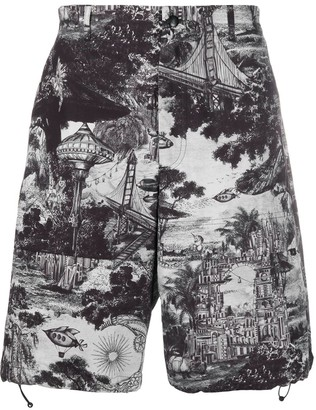 Valentino printed Bermuda shorts