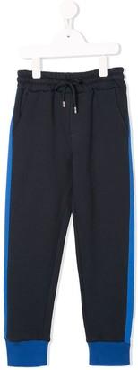 MSGM Kids side stripes drawstring sweatpants