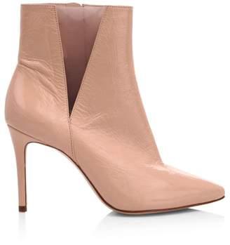 Schutz Adilene Cutout Leather & Vinyl Ankle Boots