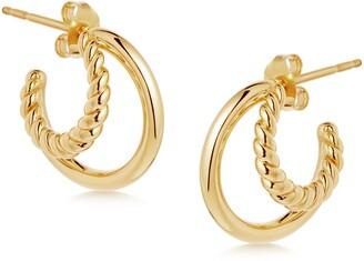 Missoma Radial Huggie Hoop Earrings