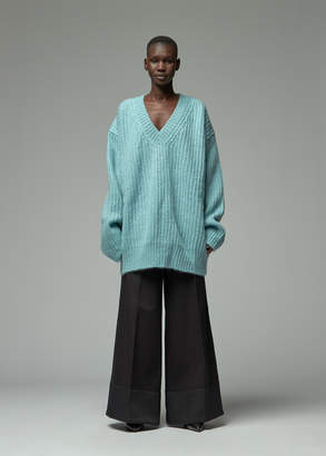 Calvin Klein Long Sleeve V-Neck Mohair Sweater