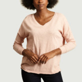 American Vintage Candy Cotton Boat Neck Long Sleeves Low Armholes Sonoma T-Shirt - candy pink | cotton | small - Candy pink