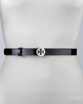 Tory Burch Patent Leather Reva Buckle Belt
