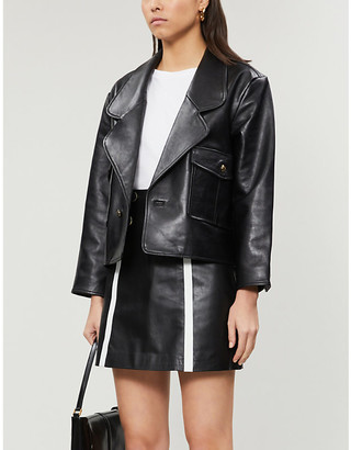 Sandro Gansia leather mini skirt