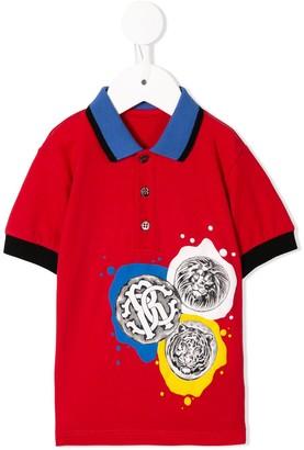 Roberto Cavalli Junior Logo Stamp Polo Shirt