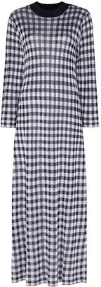 Rixo Bibi gingham print knit midi dress