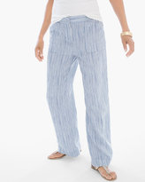 Chico's Linen Striped Wide-Leg Pants
