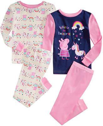 Peppa Pig Toddler Girls 4-Pc. Cotton Pajamas Set