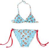 Mc2 Saint Barth Kids - Nutella print bikini set - kids - Polyamide/Spandex/Elastane - 12 yrs