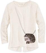 Jessica Simpson Hedgehog Purse-Pocket T-Shirt, Girls (7-16)