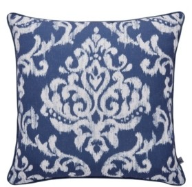 Graham & Brown Indian Ink Blue/Silver Pillow