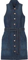 J Brand Caressa Denim Mini Dress - Dark denim