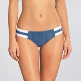 Seafolly Block Party Denim Contrast Spliced Hipster