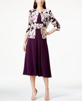 Jessica Howard Petite Floral-Print Midi Dress and Jacket