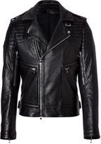 Balmain Black Lambskin Biker Jacket