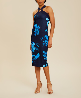 Ted Baker Women's Casual Dresses NAVY - Navy Fantasia Floral Cosiima Halter Dress - Women