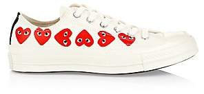 Comme des Garcons Women's Multi Heart Low-Top Canvas Sneakers - Size 10.5 US Women's/ 8.5 US Men's