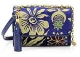 Tory Burch Cosmic Floral Velvet Shoulder Bag