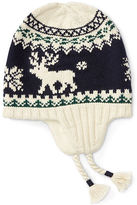Ralph Lauren Reindeer Cotton Earflap Hat