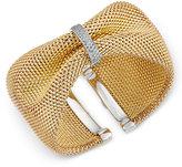 Macy's Diamond Mesh Cuff Bracelet (1/2 ct. t.w.) in 14k Gold-Plated Sterling Silver