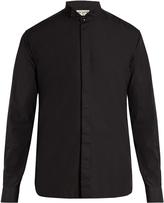 Saint Laurent Wing-collar cotton-poplin shirt