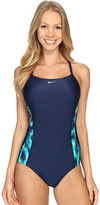 Nike Blurred Lines Crossback Tank One-Piece