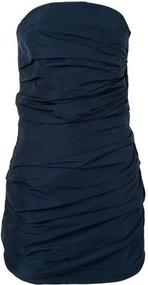 Georgia Alice Betty draped strapless dress