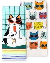 Celebrate Summer Together Rainbow Cat Kitchen Towel 2-pk.