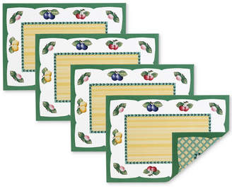 Villeroy & Boch French Garden 4-Pc. Reversible Placemat Set