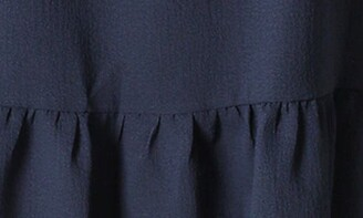 Sandra Darren Off-the-Shoulder Popover Ruffle Shift Dress