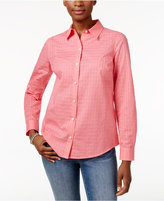 Charter Club Petite Cotton Textured Shirt, Only at Macy's