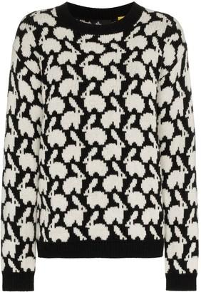 Moncler Rabbit intarsia knit sweater