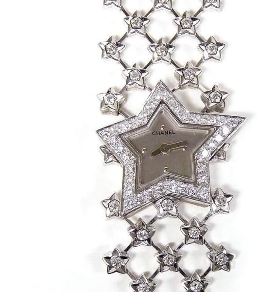 Chanel Star Ladies 18K White Gold And Diamonds Wristwatch