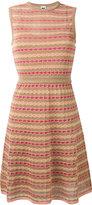 M Missoni panel patterned dress - women - Cotton/Polyamide/Metallic Fibre/Polyester - 40