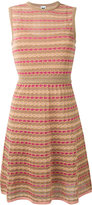 M Missoni panel patterned dress - women - Cotton/Polyamide/Polyester/Metallic Fibre - 40