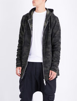 Unravel Oversized camouflage cotton-jersey hoody