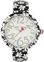 Betsey Johnson Floral Analog Bracelet Watch