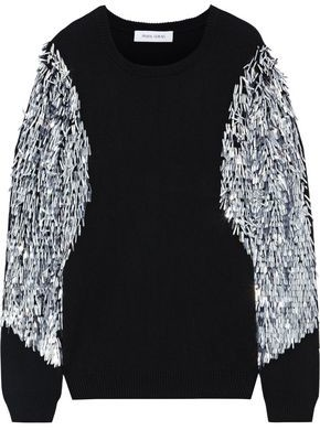 Prabal Gurung Sequin-embellished Cashmere Sweater