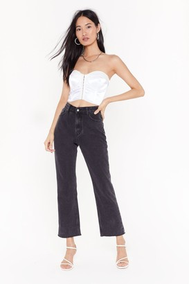 Nasty Gal Womens Road to Ruin Straight-Leg Jeans - Black - 6