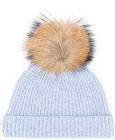 N.Peal detachable pom ribbed hat - women - Cashmere/Racoon Fur - One Size